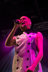 Edinburgh, Scotland, United Kingdom. 31 December 2017. Phil Oakey and The Human League perform during annual New Year of Hogmanay celebrations in the city.