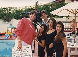 "Kim Kardashian releases a photo on Twitter with the following caption: """"Always loved this pic when me and Kourt and our friend Court were extras on my parents Stair Climber Plus infomercials"""". Photo Credit: Twitter *** No USA Distribution *** For Editorial Use Only *** Not to be Published in Books or Photo Books ***  Please note: Fees charged by the agency are for the agency's services only, and do not, nor are they intended to, convey to the user any ownership of Copyright or License in the material. The agency does not claim any ownership including but not limited to Copyright or License in the attached material. By publishing this material you expressly agree to indemnify and to hold the agency and its directors, shareholders and employees harmless from any loss, claims, damages, demands, expenses (including legal fees), or any causes of action or allegation against the agency arising out of or connected in any way with publication of the material."