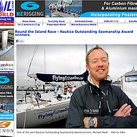Nautica Watches Outstanding Yachtsman Award Winner Michael Hook JP Morgan Round the Island Race Cowes Isle of Wight