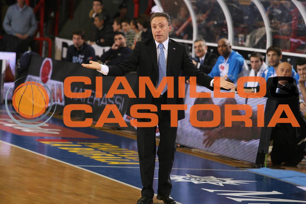 DESCRIZIONE : Napoli Lega A1 2007-08 Eldo Napoli Armani Jeans Milano <br /> GIOCATORE : Piero Bucchi <br /> SQUADRA : Eldo Napoli <br /> EVENTO : Campionato Lega A1 2007-2008 <br /> GARA : Eldo Napoli Armani Jeans Milano <br /> DATA : 06/01/2008 <br /> CATEGORIA : Ritratto Delusione<br /> SPORT : Pallacanestro <br /> AUTORE : Agenzia Ciamillo-Castoria/G.Ciamillo