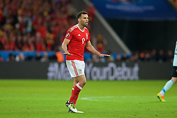 LILLE, FRANCE - Friday, July 1, 2016: Wales' Hal Robson-Kanu gestures during the UEFA Euro 2016 Championship Quarter-Final match against Belgium at the Stade Pierre Mauroy. (Pic by Paul Greenwood/Propaganda)