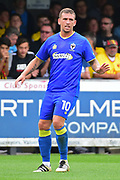 AFC Wimbledon Forward Cody McDonald (10) double goal scorer during the Pre-Season Friendly match between AFC Wimbledon and Watford at the Cherry Red Records Stadium, Kingston, England on 15 July 2017. Photo by Jon Bromley.