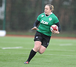 Ireland women's Edel McMahon<br /> <br /> Photographer Mike Jones/Replay Images<br /> <br /> International Friendly - Wales women v Ireland women - Sunday 21st January 2018 - CCB Centre for Sporting Excellence - Ystrad Mynach<br /> <br /> World Copyright © Replay Images . All rights reserved. info@replayimages.co.uk - http://replayimages.co.uk