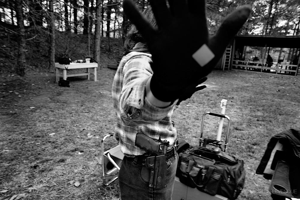 Compétition de tir à la carabine au River Bend gun club. Dawsonville, USA.