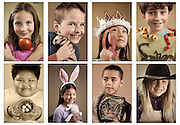 Personal Project - 'The Alphabet Portraits': Portraits of our son Micah's 2nd grade class to help raise funds for his elementary school's art program.