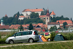View on Ptuj castle at Beachmaster 2010 tournament for Slovenian BeachTour on July 17, 2010, in Ptuj, Slovenia. (Photo by Matic Klansek Velej / Sportida)