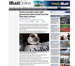 Mail Online; Dutch coffeeshop