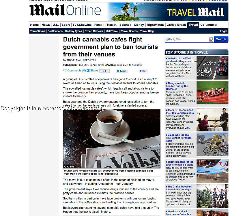 Mail Online; Dutch coffeeshop