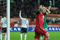 Fotball<br /> 22.10.2017<br /> Eliteserien<br /> Brann - Rosenborg<br /> En frustrert Jonas Grønner (R) i det han skjønner scoringen er anulert pga. offside<br /> Foto: Astrid M. Nordhaug, Digitalsport