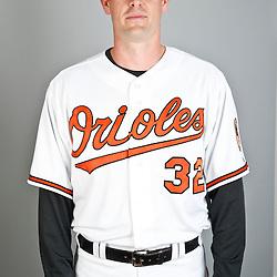 Feb 22, 2013; Sarasota, FL, USA; Baltimore Orioles catcher Matt Wieters (32) at the Orioles clubhouse. Mandatory Credit: Derick E. Hingle-USA TODAY Sports