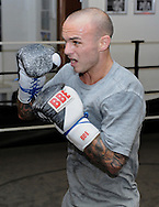 Picture by Alan Stanford/Focus Images Ltd +44 7915 056117<br /> 30/09/2013<br />  Kevin Mitchell performs in a media workout at Gator ABC, Hainault, Essex..