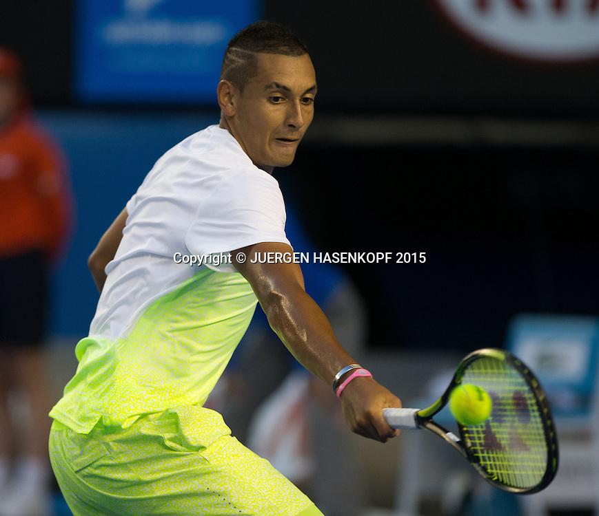 Nick Kyrgios (AUS)<br /> <br /> Tennis - Australian Open 2015 - Grand Slam ATP / WTA -  Melbourne Olympic Park - Melbourne - Victoria - Australia  - 27 January 2015.