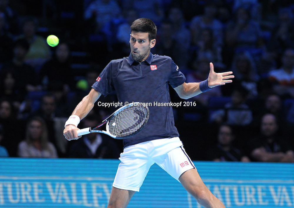 NOVAK DJOKOVIC (SRB), ATP World Tour Finals, O2 Arena, London, England.<br /> <br /> Tennis - ATP World Tour Finals 2016 - ATP -  O2 Arena - London -  - Great Britain  - 13 November 2016. <br /> &copy; Juergen Hasenkopf/Grieves