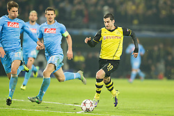 26.11.2013, Signal Iduna Park, Dortmund, GER, UEFA CL, Borussia Dortmund vs SSC Neapel, Gruppe F, im Bild Henrikh Mkhitaryan (Borussia Dortmund) // Henrikh Mkhitaryan (Borussia Dortmund) during UEFA Champions League group F match between Borussia Dortmund and SSC Napoli at the Signal Iduna Park in Dortmund, Germany on 2013/11/26. EXPA Pictures © 2013, PhotoCredit: EXPA/ Newspix/ Lukasz Skwiot / Foto Olimpik<br /> <br /> *****ATTENTION - for AUT, SLO, CRO, SRB, BIH, MAZ, TUR, SUI, SWE only*****