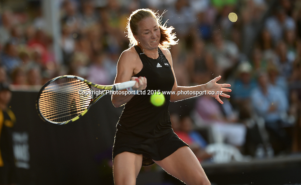 Israel's Julia Glushko in action during her first round singles match on Day 2 at the ASB Classic WTA International. Auckland, New Zealand. Tuesday 6 January 2015. Copyright photo: Andrew Cornaga/www.photosport.co.nz