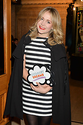 POPPY JAMIE at the Cirque Du Soleil's VIP performance of Kooza at The Royal Albert Hall, London on 6th January 2015.