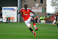 Crewe Alexandra&rsquo;s Anthony Grant in action. Skybet football league one match, Crewe Alexandra v Port Vale at the Alexandra Stadium in Crewe on Saturday 13th Sept 2014.<br /> pic by Chris Stading, Andrew Orchard sports photography.