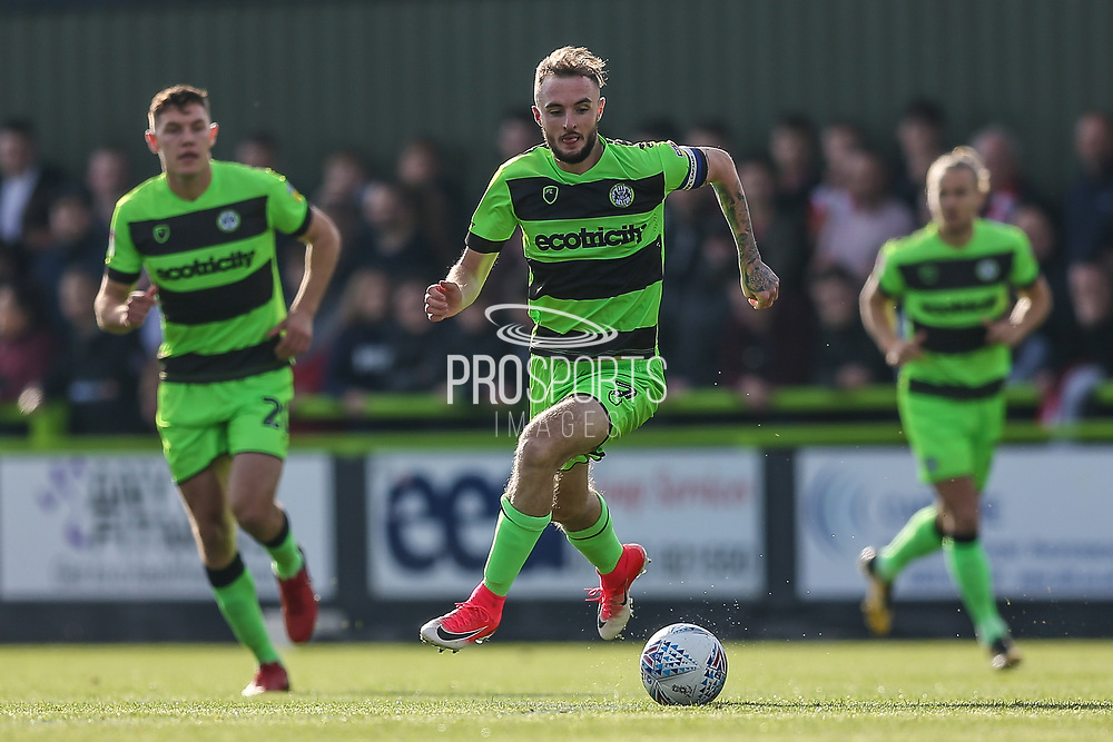 Forest Green Rovers Carl Winchester(7) during the EFL Sky Bet League 2 match between Forest Green Rovers and Cheltenham Town at the New Lawn, Forest Green, United Kingdom on 20 October 2018.