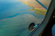 A view of the reef from the air on the flight on Mokulele Airlines from Maui to Molokai, Hawaii, USA