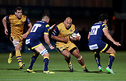 Soane Tonga'uiha of Bristol Rugby runs with the ball - Mandatory by-line: Robbie Stephenson/JMP - 04/11/2016 - RUGBY - Sixways Stadium - Worcester, England - Worcester Warriors v Bristol Rugby - Anglo Welsh Cup