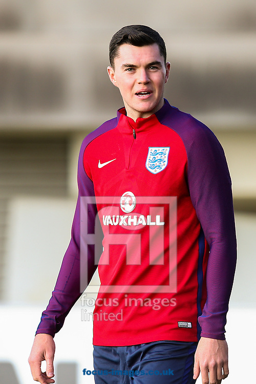 Michael Keane (Burnley) during the England training session at St Georges Park, Burton upon Trent<br /> Picture by Andy Kearns/Focus Images Ltd 0781 864 4264<br /> 04/10/2016