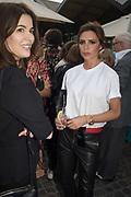 NIGELLA LAWSON; VICTORIA BECKHAM, Alex Shulman goodbye party. Dock Kitchen, Ladbroke Grove. London. 22 June 2017