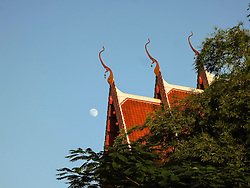 Architecture of a temple of Nong Kai, Thailand, Southeast Asia
