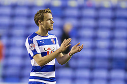 READING, ENGLAND - Tuesday, September 22, 2015: Reading's Chris Gunter looks dejected as his side lose 2-1 to Everton during the Football League Cup 3rd Round match at the Madejski Stadium. (Pic by David Rawcliffe/Propaganda)