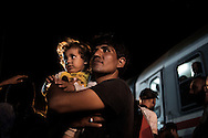 Croatia: Migrants on the train station in Tovarnik (Croatia). Alessio Romenzi