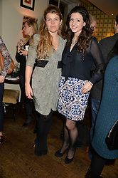 Left to right, AMBER NUTTALL and SHIRLEY LEIGH WOOD-OAKES at a party to celebrate the publication of 'Honestly Healthy For Life' by Natasha Corrett held at Bumpkin, 209 Westbourne Park Road, London on 26th March 2014.
