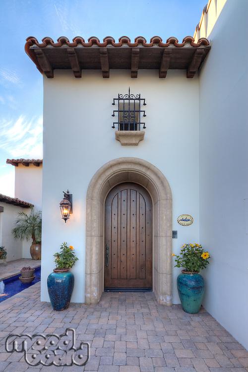 Arched doorway to luxury villa