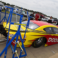 GAINESVILLE, FL - MAR 10, 2011:  NASCAR Sprint Cup Champion, Kurt Busch (201), prepares to drive his Shell Dodge in the Tire Kingdom Gatornationals race at the Gainesville Raceway in Gainesville, FL.