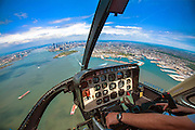 Helicopter Aerial view of Manhattan, New York City, NY USA