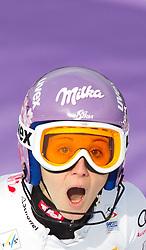 19.02.2011, Gudiberg, Garmisch Partenkirchen, GER, FIS Alpin Ski WM 2011, GAP, Damen, Slalom, im Bild Michaela Kirchgasser (AUT) // Michaela Kirchgasser (AUT) during Ladie's Slalom Fis Alpine Ski World Championships in Garmisch Partenkirchen, Germany on 19/2/2011. EXPA Pictures © 2011, PhotoCredit: EXPA/ J. Groder