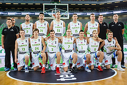 Slovenian national basketball team before qualifying match between Slovenia and Kosovo for European basketball championship 2017,  Arena Stozice, Ljubljana on 31th August, Slovenia. Photo by Grega Valancic / Sportida