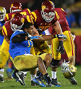 during an NCAA college football game on Saturday, November 30, 2013, in Los Angeles. (/Michael Yanow)