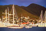 356213-1000 ~ Copyright: George H.H. Huey ~ Yachts in Simpson Bay, Sint Maarten, Leeward Islands, Caribbean.