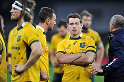 Bernard Foley of Australia looks dejected after the match - Photo mandatory by-line: Patrick Khachfe/JMP - Mobile: 07966 386802 29/11/2014 - SPORT - RUGBY UNION - London - Twickenham Stadium - England v Australia - QBE Internationals