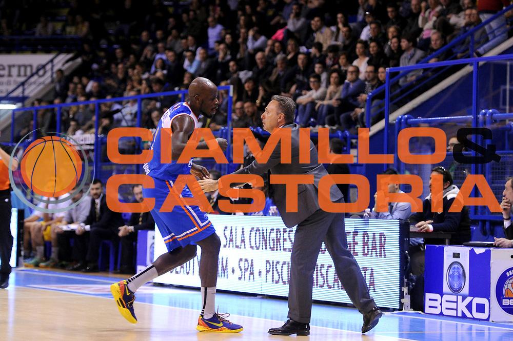 DESCRIZIONE : Porto San Giorgio Lega A 2013-14 Sutor Montegranaro Enel Brindisi<br /> GIOCATORE : Piero Bucchi <br /> CATEGORIA : coach <br /> SQUADRA : Sutor Montegranaro Enel Brindisi<br /> EVENTO : Campionato Lega A 2013-2014<br /> GARA : Sutor Montegranaro Enel Brindisi<br /> DATA : 05/04/2014<br /> SPORT : Pallacanestro <br /> AUTORE : Agenzia Ciamillo-Castoria/C.De Massis<br /> Galleria : Lega Basket A 2013-2014  <br /> Fotonotizia : Porto San Giorgio Lega A 2013-14 Sutor Montegranaro Enel Brindisi<br /> Predefinita :