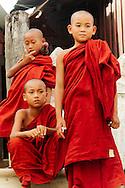 Young monks outside Shwe Yan Pya  monastery