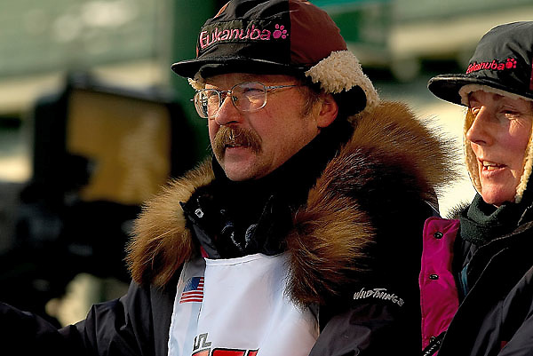04 March 2006: Anchorage, Alaska - Rick Swenson, 5 time winner of the Iditarod at the Ceremonial Start in downtown Anchorage of the 2006 Iditarod Sled Dog Race.
