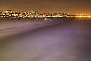 Santa Monica Beach as viewed from Santa Monica Pier, California, USA