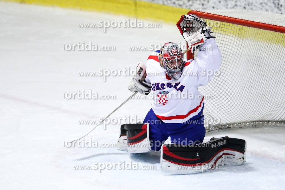 Vilim Rosandic of Croatia during friendly ice hockey match between Slovenia and Croatia, on April 12, 2016 in Ledena dvorana, Bled, Slovenia. Photo By Matic Klansek Velej / Sportida