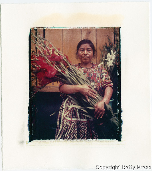 Selling flowers in the main market of Antigua, Guatemala<br />