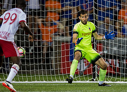 August 15, 2017 - Cincinnati, OH, USA - Cincinnati, OH - Tuesday August 15, 2017: Mitch Hildebrandt during a 2017 U.S. Open Cup game between FC Cincinnati vs New York Red Bulls at Nippert Stadium. (Credit Image: © Garig Bartram/ISIPhotos via ZUMA Wire)