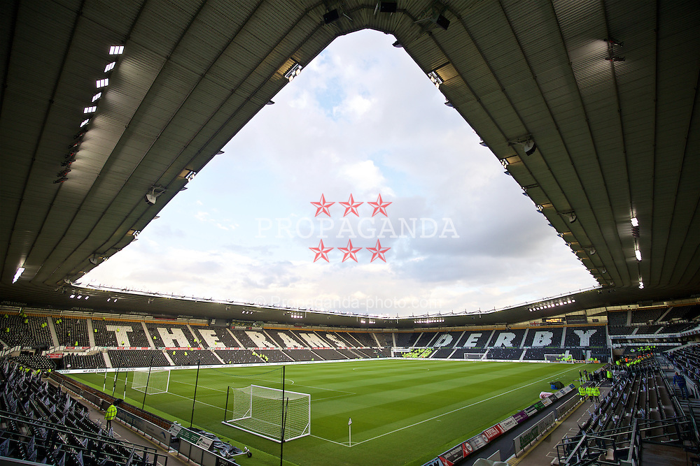 DERBY, ENGLAND - Tuesday, September 20, 2016: A general view of Pride Park as Derby County take on Liverpool during the Football League Cup 3rd Round match. (Pic by David Rawcliffe/Propaganda)
