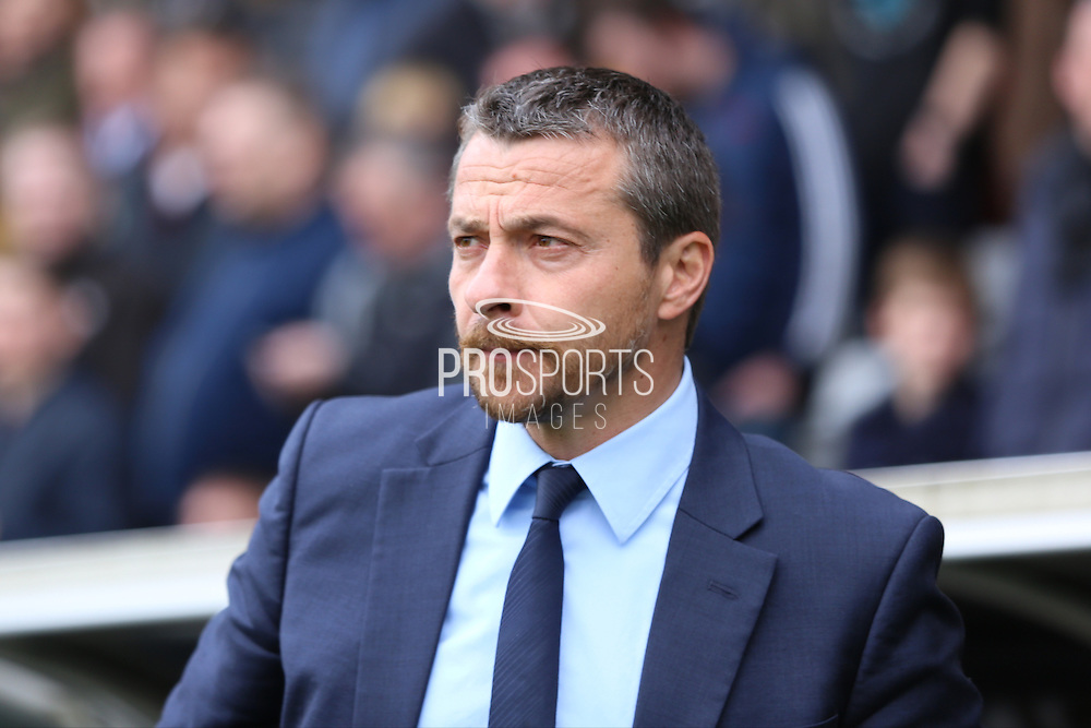 Fulham head coach, Slavisa Jokanovic looking on during the Sky Bet Championship match between Fulham and Nottingham Forest at Craven Cottage, London, England on 23 April 2016. Photo by Matthew Redman.