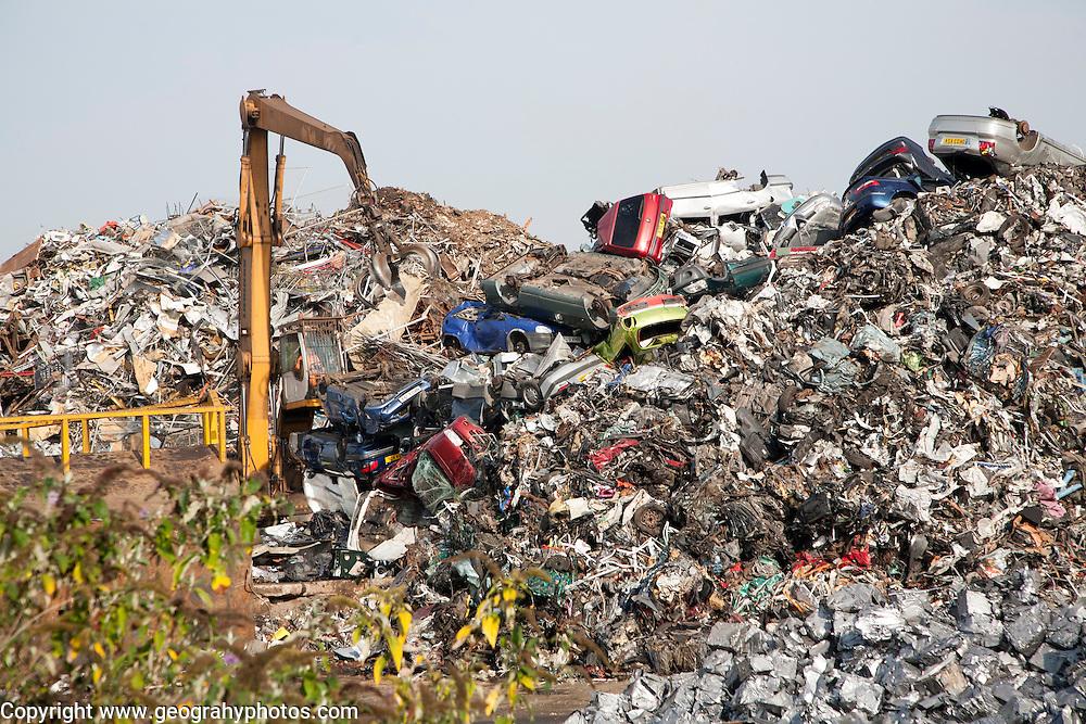 Scrap metal recycling EMR company, Swindon, England, UK
