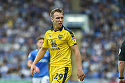 Oxford United Defender, Tony McMahon (29) during the EFL Sky Bet League 1 match between Portsmouth and Oxford United at Fratton Park, Portsmouth, England on 18 August 2018.