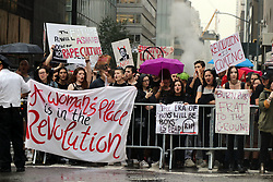 October 4, 2018 - New York City, New York, US - Hundreds of protesters staged a National Walkout from all work, on Thursday, October 4 at 4:00 pm at Trump Tower in New York City in the wake of Judge Brett Kavanaugh's nomination and confirmation process to the Supreme Court of the United States. (Credit Image: © G. Ronald Lopez/ZUMA Wire)